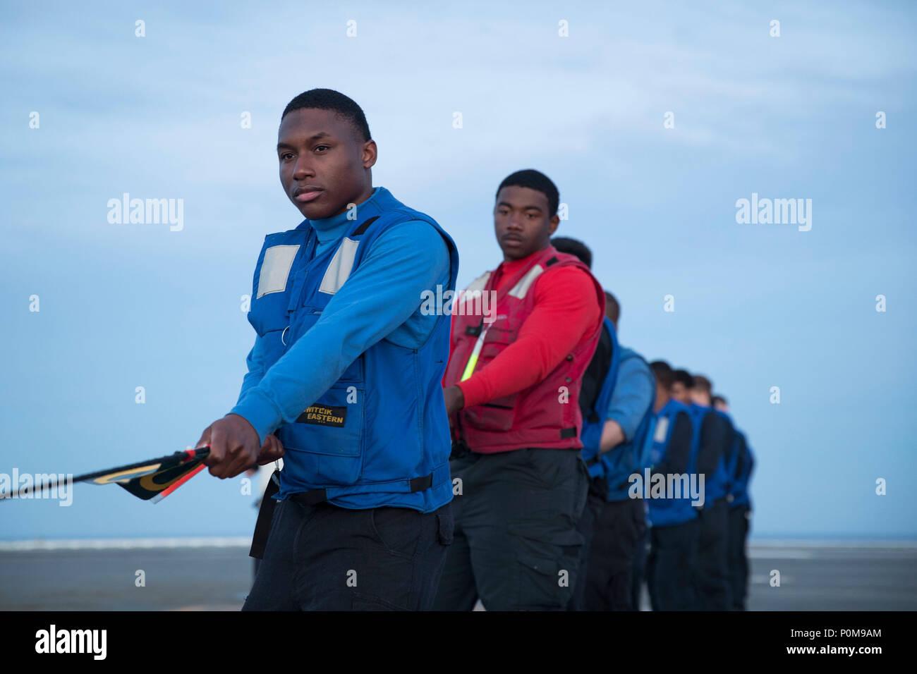 Atlantic Ocean June   Aviation Boatswains Mate Handling