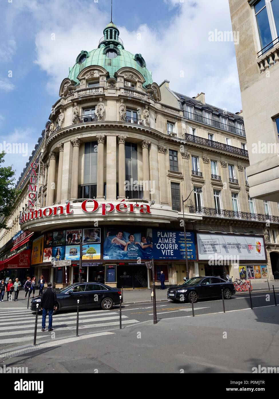 Gaumont Opéra cinema front facade, Paris, France Stock Photo - Alamy