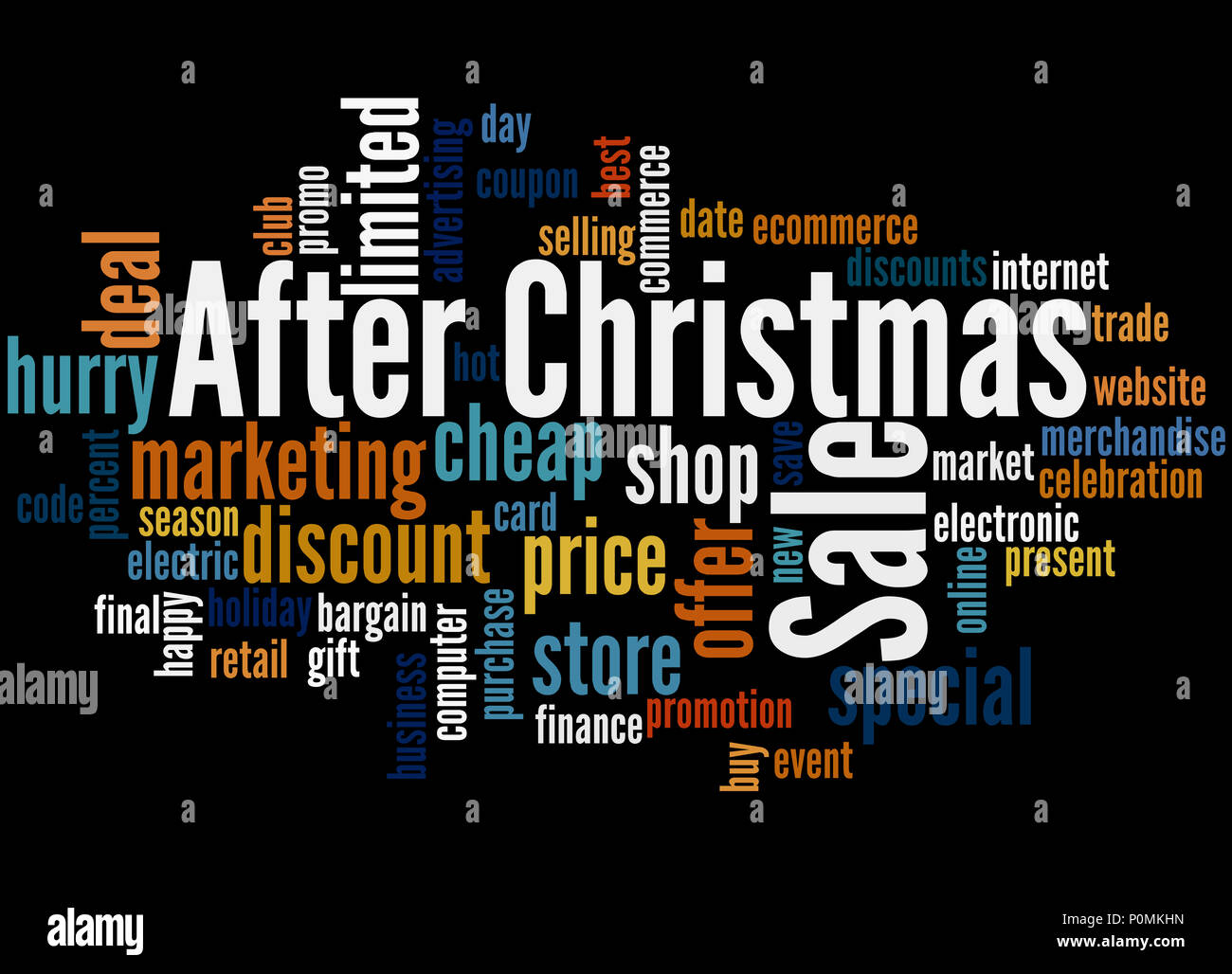 after christmas sale word cloud concept on black background - Best After Christmas Sale