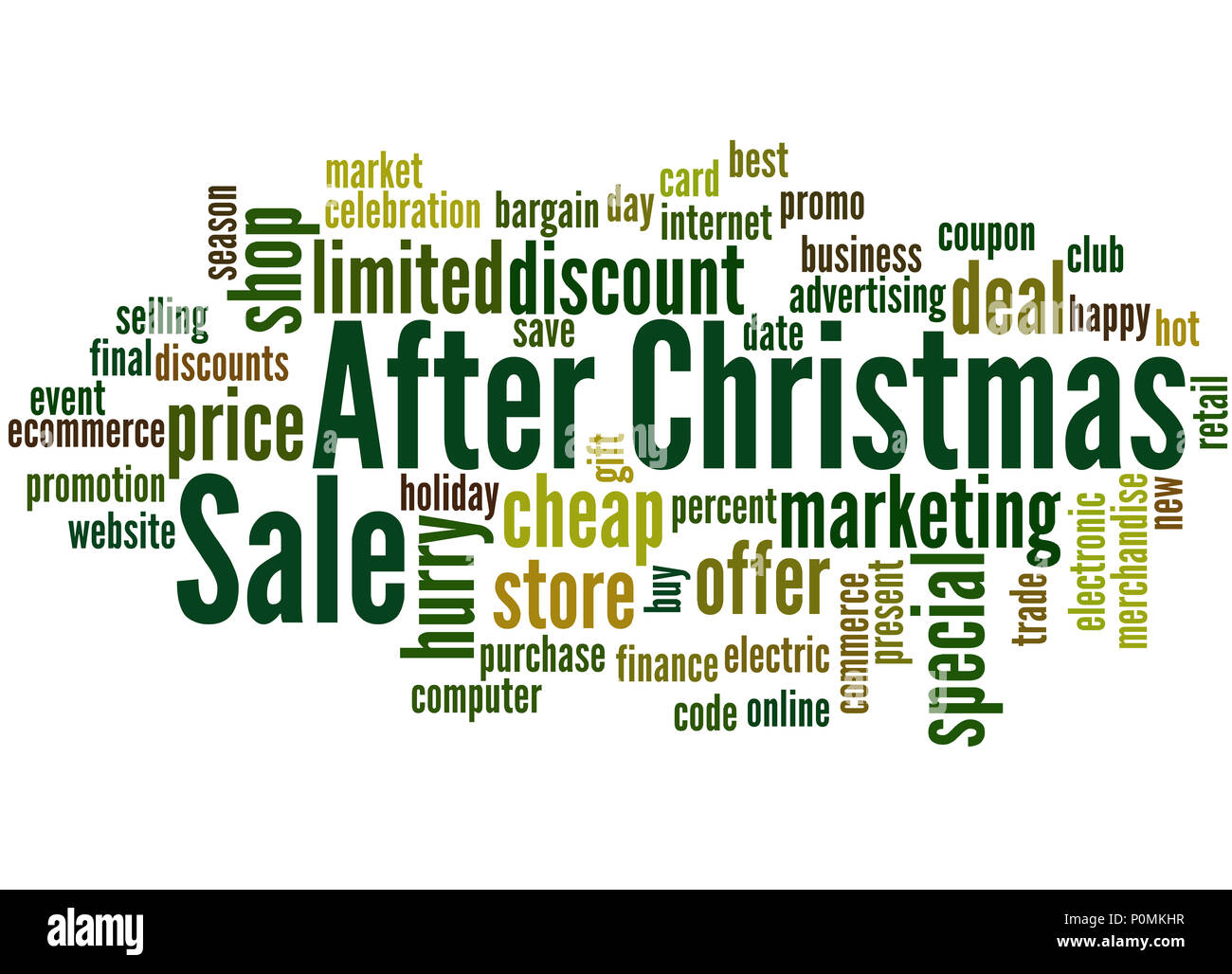 after christmas sale word cloud concept on white background - Best After Christmas Sale