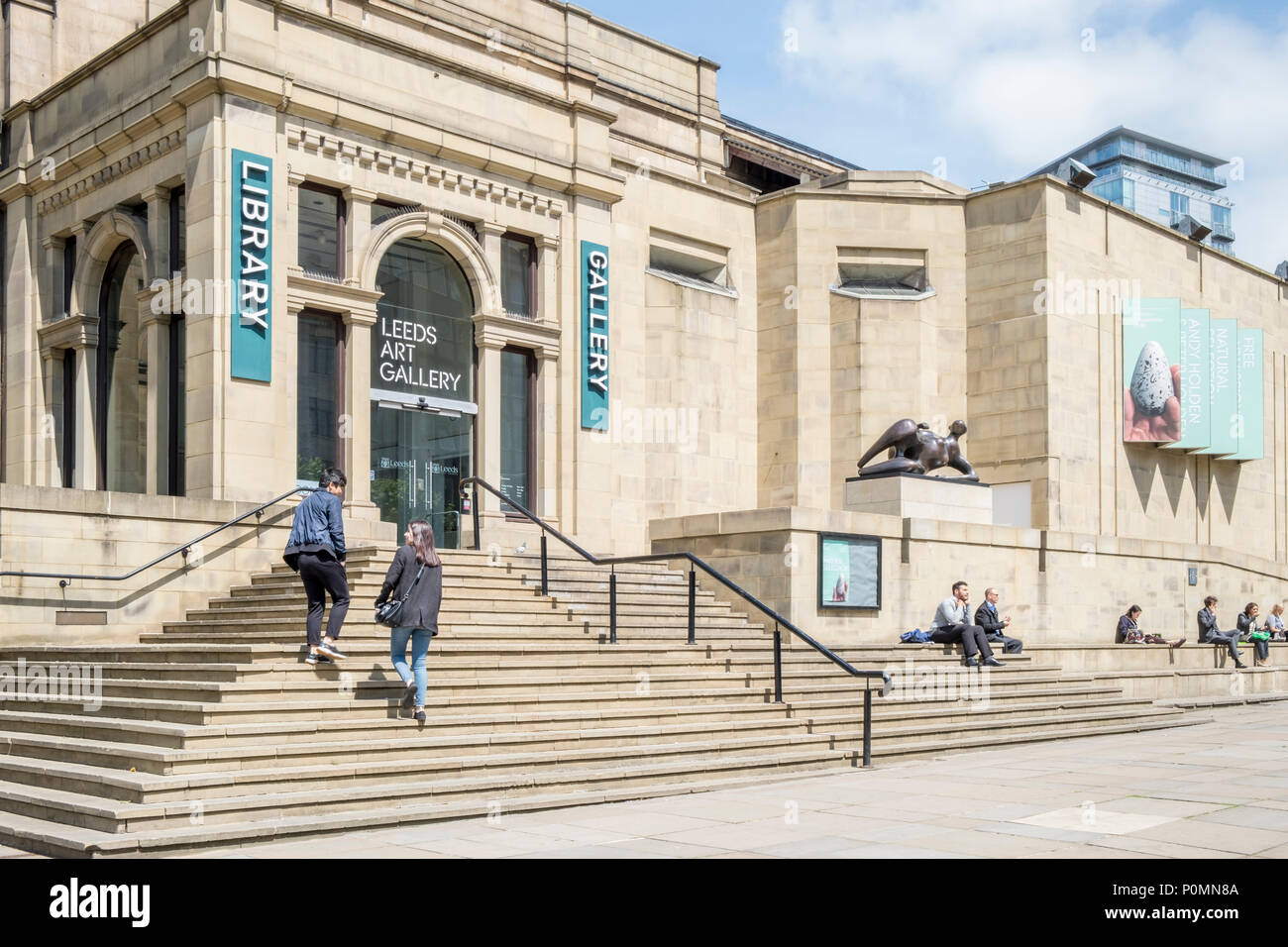 Leeds Central Library and Leeds Art Gallery, Leeds, West Yorkshire, England, UK - Stock Image
