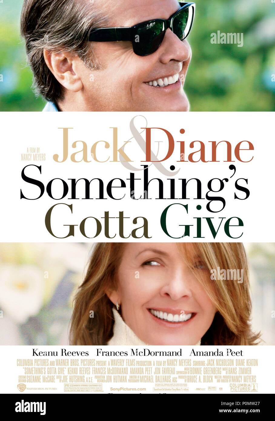 Original Film Title: SOMETHING'S GOTTA GIVE.  English Title: SOMETHING'S GOTTA GIVE.  Film Director: NANCY MEYERS.  Year: 2003. Credit: COLUMBIA PICTURES / Album - Stock Image