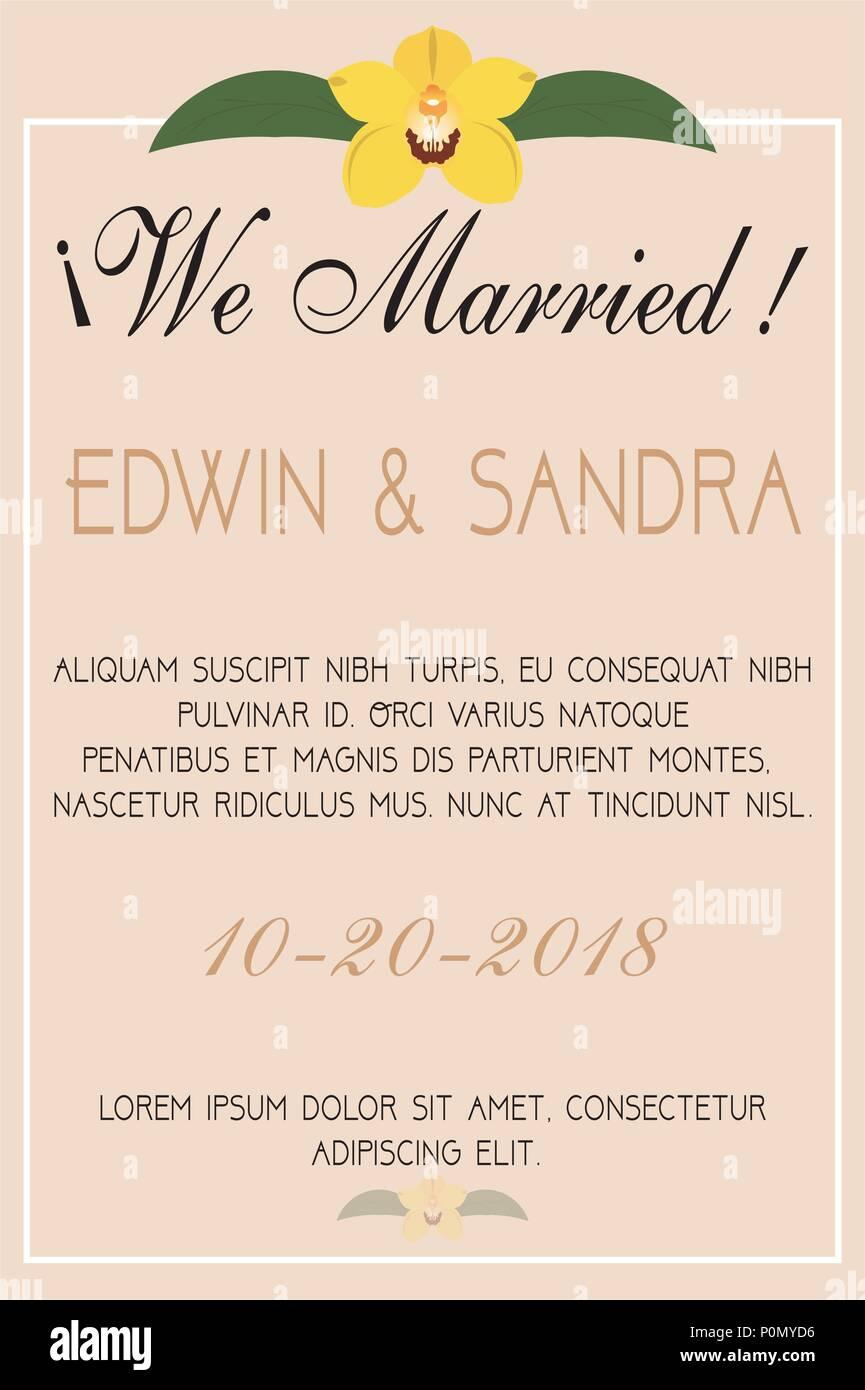 Wedding invitation card Stock Vector Art & Illustration, Vector ...