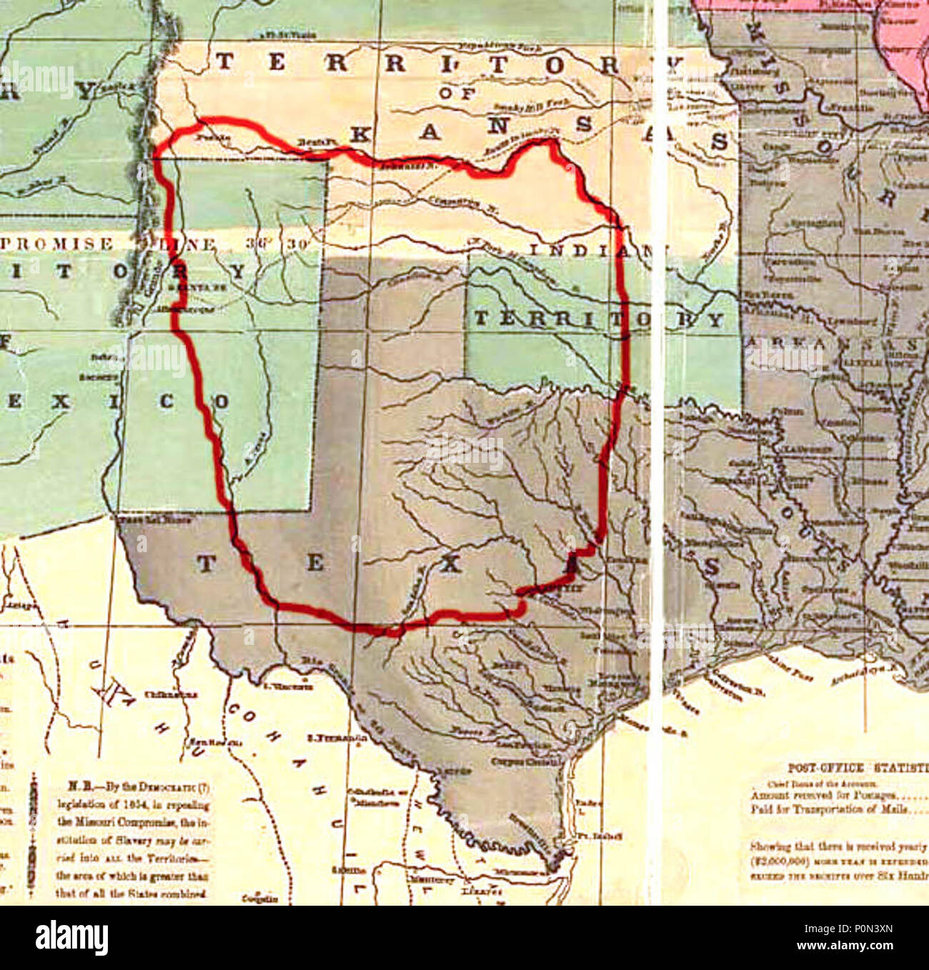 Map Of Texas New Mexico And Colorado.Comancheria The Former Territory Of The Comanche Including Large