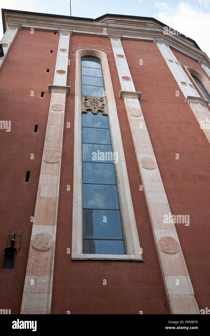 Vicenza, Italy - May 26, 2018: Santa Maria Annunciata church - Stock Image