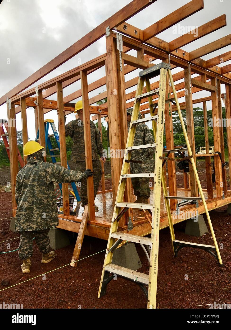 Soldiers From The 230th Vertical Engineer Company Hawaii Army