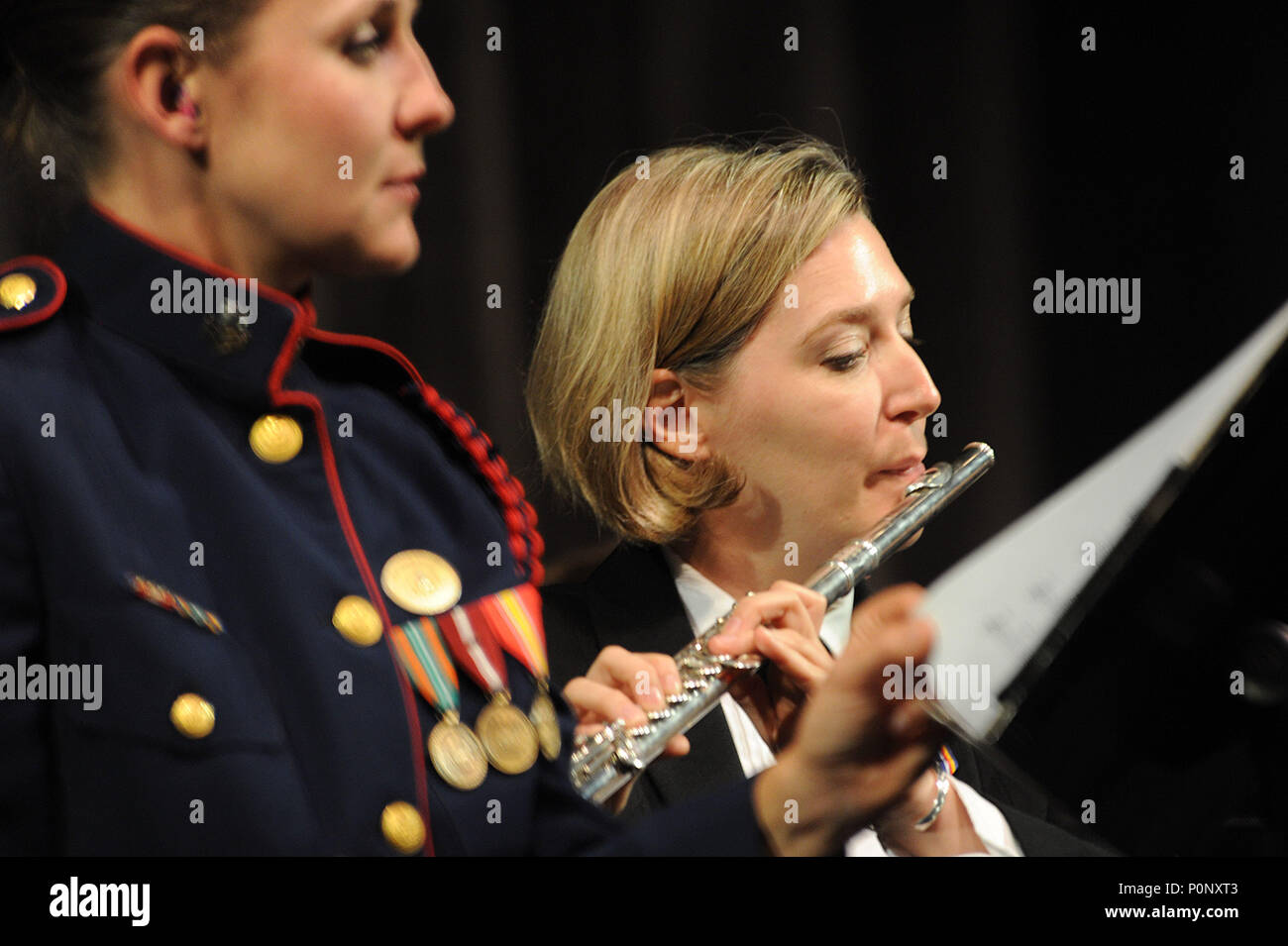 Flute Player In High School Stock Photos Flute Player In High