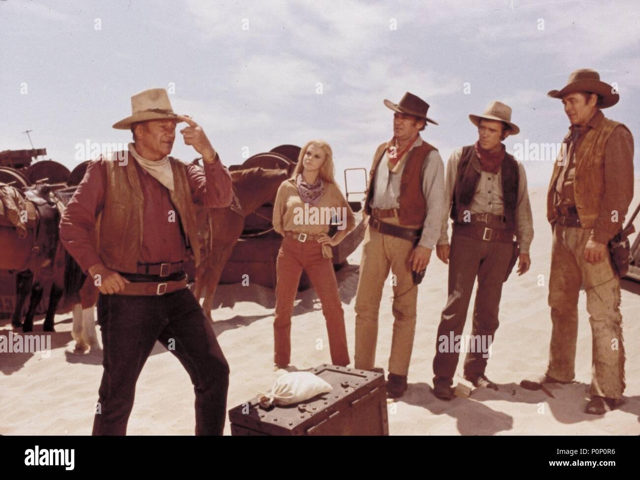 Original Film Title: THE TRAIN ROBBERS.  English Title: THE TRAIN ROBBERS.  Film Director: BURT KENNEDY.  Year: 1973.  Stars: JOHN WAYNE. Credit: WARNER BROTHERS / Album - Stock Image