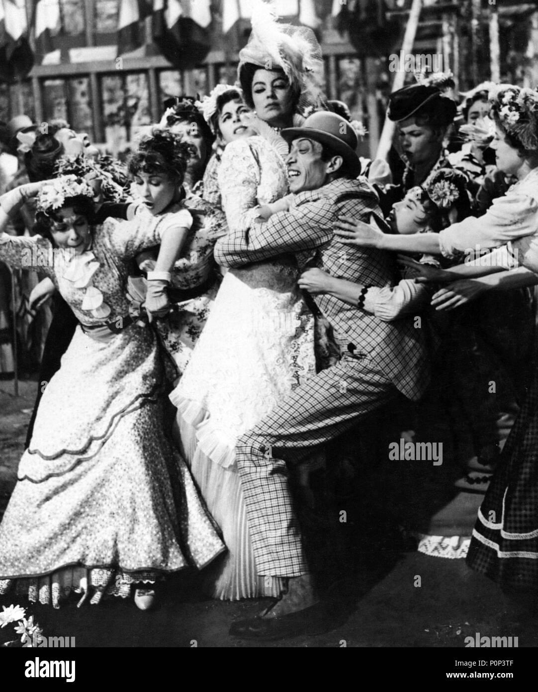 English Title: FRENCH CANCAN. Film Director: JEAN RENOIR. Year: 1954.  Stars: MARIA FELIX; PHILIPPE CLAY. Credit: FRANCO LONDON FILMS / Album