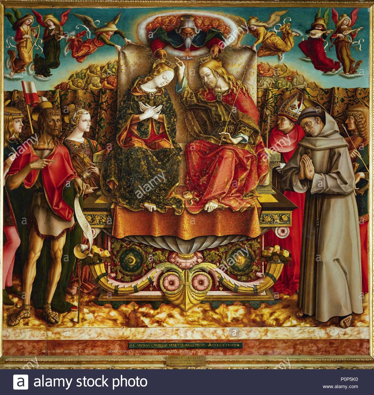125 128 Stock Photos Images Alamy Brera I Love Birdy Graphic Designed Hand Bag Black Coronation Of The Virgin With Saints John Baptist Mary Magdalen Left