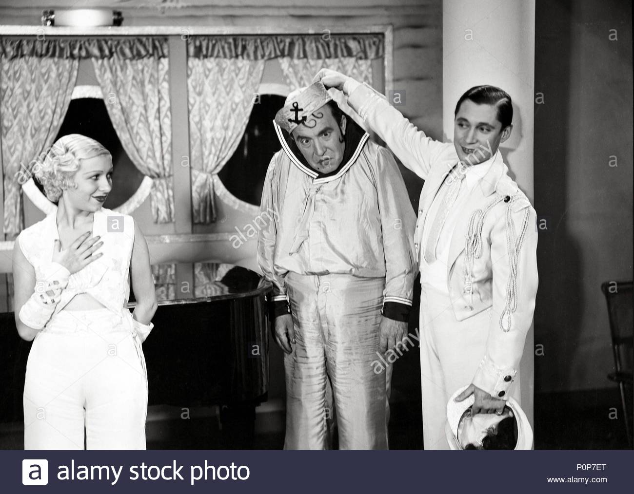 Original Film Title: ABAJO LOS HOMBRES.  English Title: ABAJO LOS HOMBRES.  Film Director: JOSE MARIA CASTELLVI.  Year: 1935.  Stars: CARMELITA AUBERT; ALEJANDRO NOLLA; PIERRE CLAREL. Credit: EDICI / Album - Stock Image