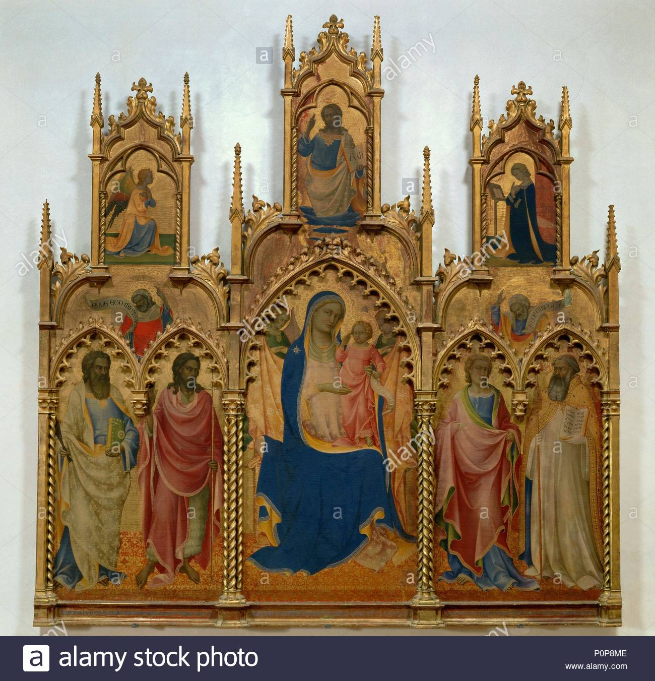 Painted 1410 Tempera on wood,274 x 259 cm Inv.468. Author: Lorenzo Monaco  (c. 1370-c. 1423). Location: Galleria dell'Accademia, Florence, Italy.