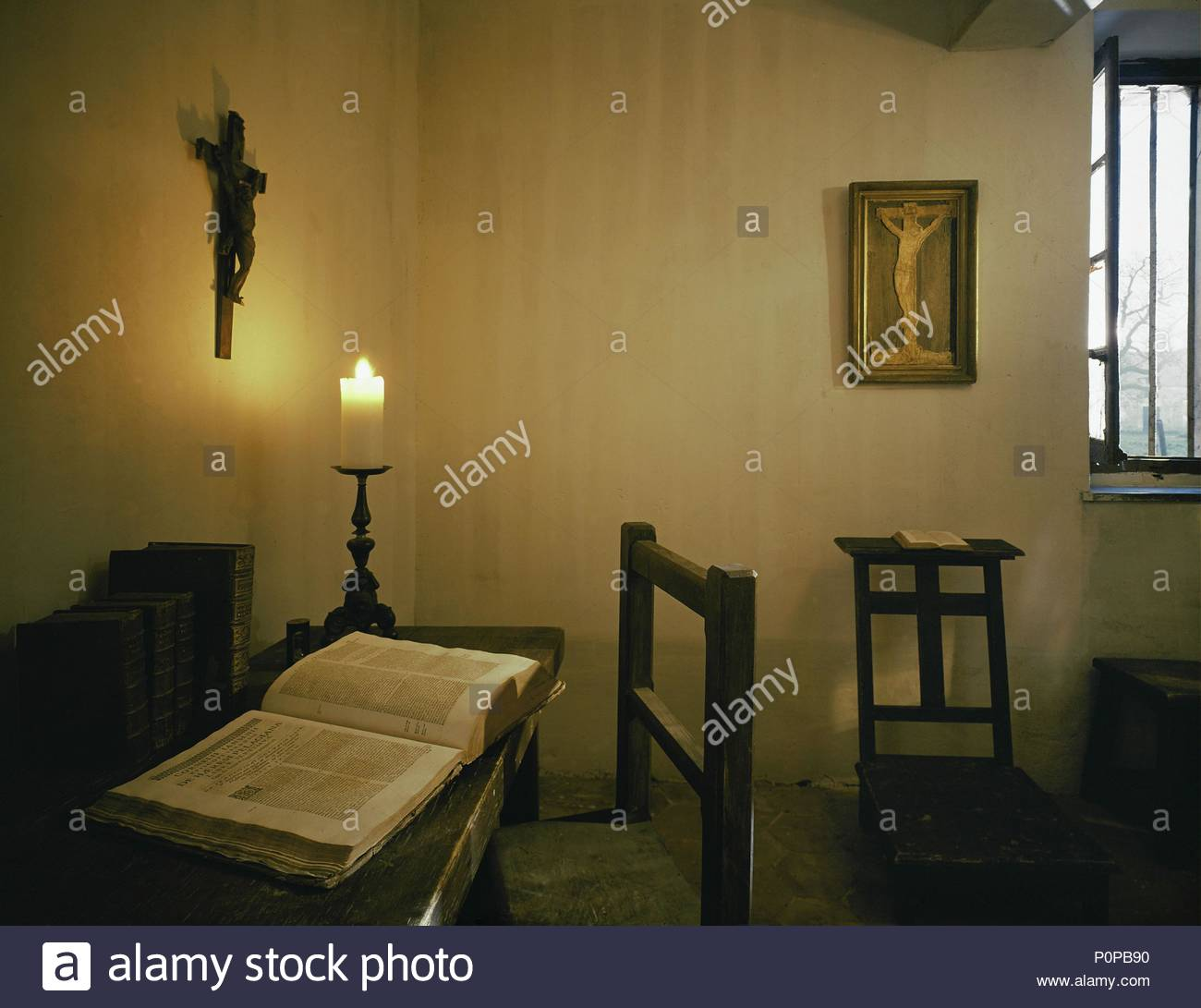 Blaise Pascal S Cell At Port Royal Des Champs With His Prayer Stool