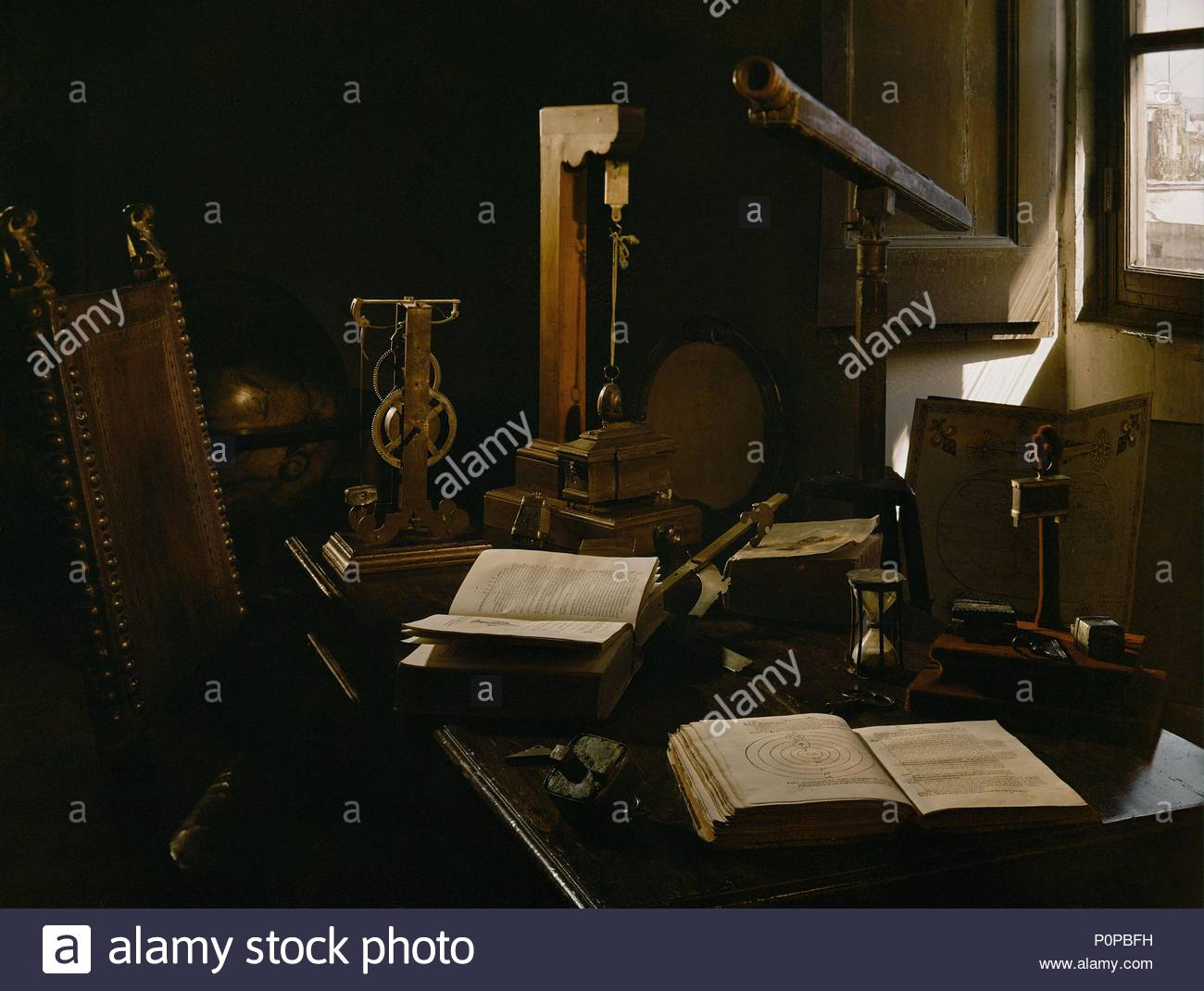 Galileo galilei and telescope stock photos & galileo galilei and