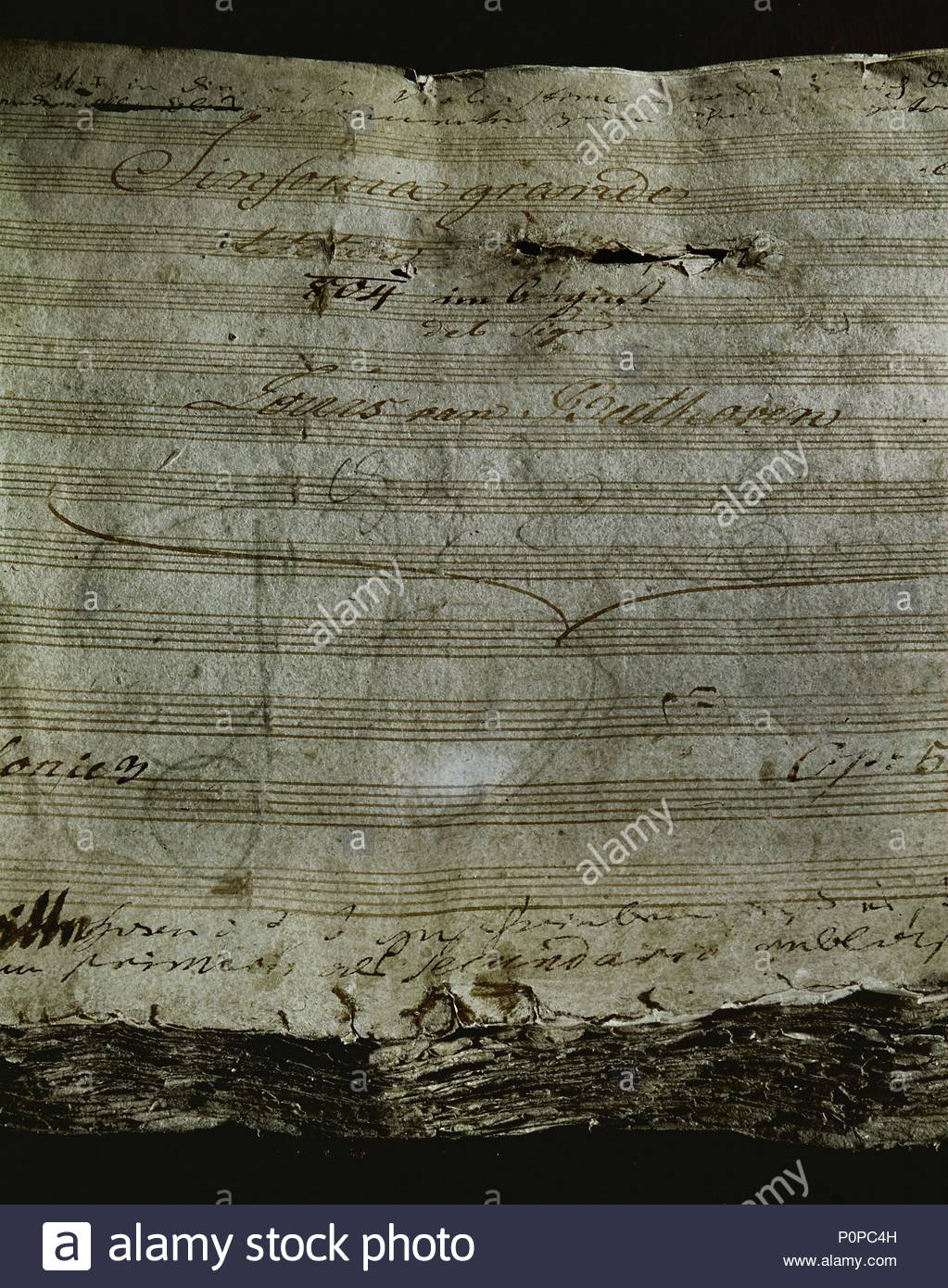 title page of beethoven s third symphony eroica in a fury