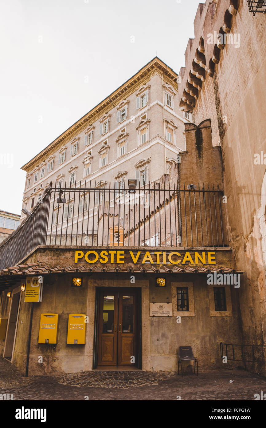 ROME, ITALY - 10 MARCH 2018: facade of Vatican postal service office Stock Photo
