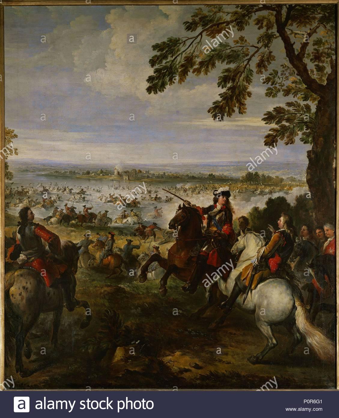 The army of Louis XIV crossing the Rhine on June 12, 1672. Oil on canvas  (1699) 234 x 164 cm-Inv. 7089. Author: PARROCEL, JOSEPH. Location: Louvre,  Dpt. des ...