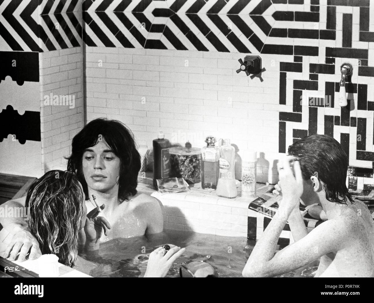 Original Film Title: PERFORMANCE.  English Title: PERFORMANCE.  Film Director: NICOLAS ROEG; DONALD CAMMELL.  Year: 1970.  Stars: MICK JAGGER. Credit: WARNER/GOODTIMES / Album - Stock Image