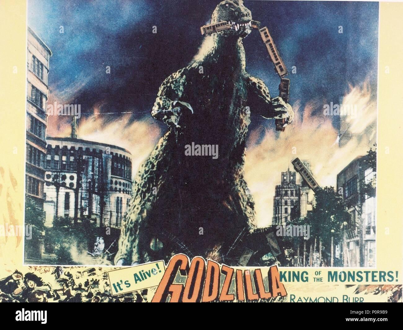 Original Film Title: GOJIRA.  English Title: GODZILLA.  Film Director: ISHIRO HONDA.  Year: 1954. Credit: TOHO / Album - Stock Image