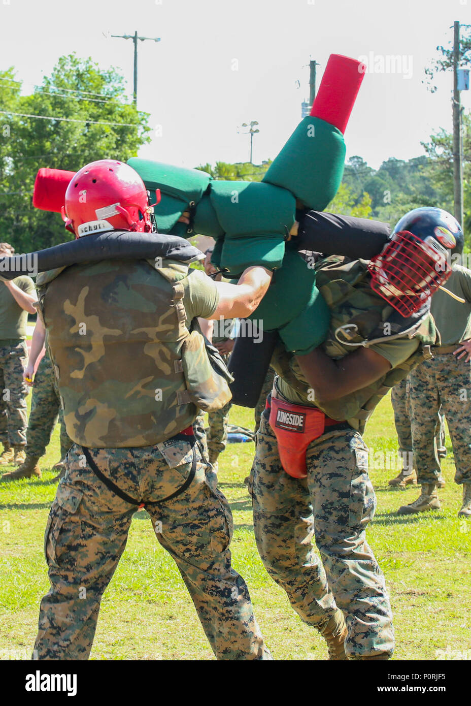 21d5c8291 Marines compete during a pugil stick bout aboard Marine Corps Air Station  Beaufort, May 5