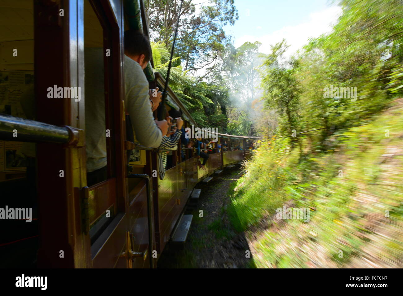 Puffing Billy, Australia's premier preserved steam railway, Melbourne - Stock Image