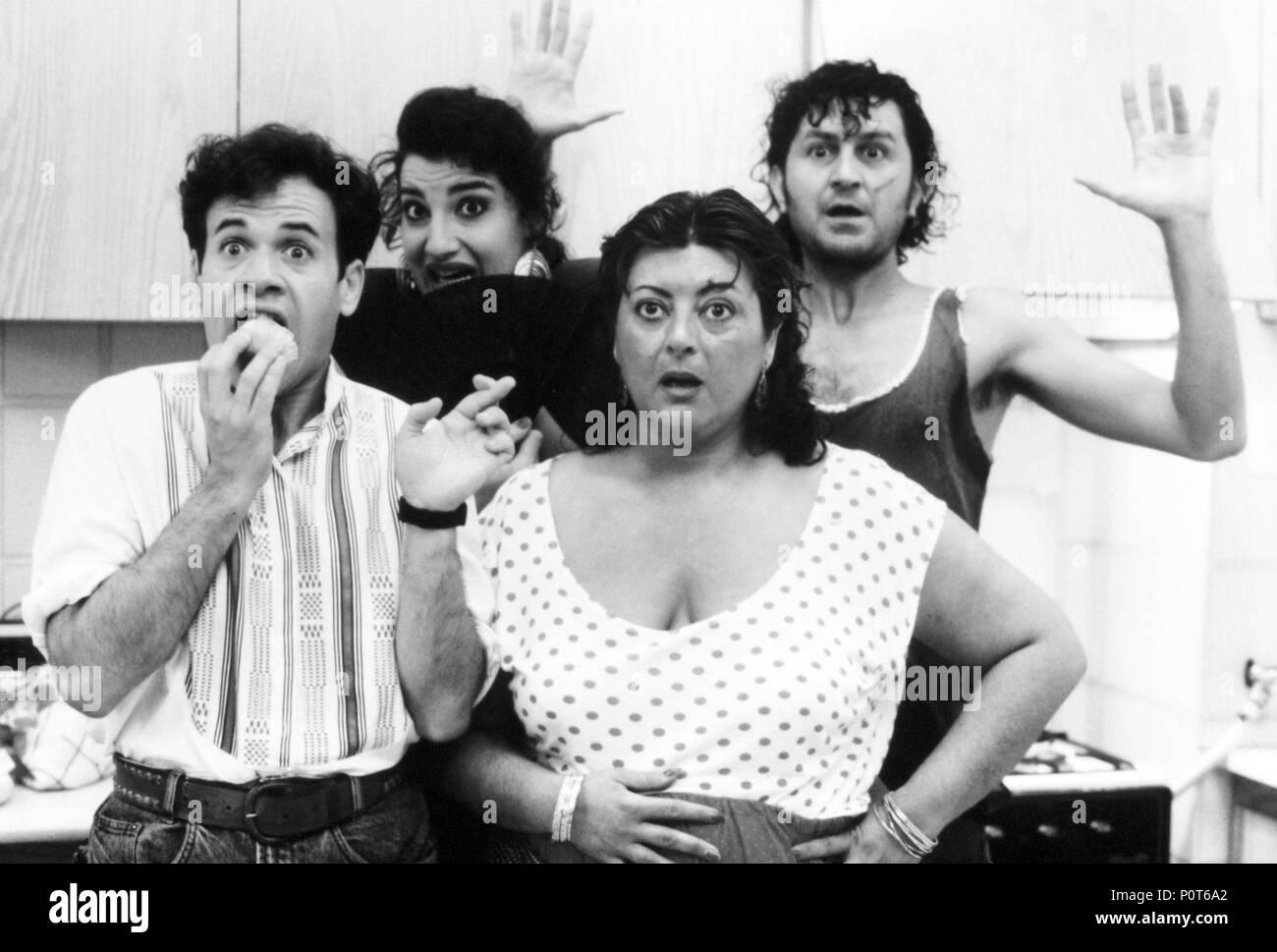 Original Film Title: QUE T'HI JUGUES, MARI PILI?.  English Title: QUE TE JUEGAS, MARI PILI?.  Film Director: VENTURA PONS.  Year: 1991.  Stars: AMPARO MORENO; LLOLL BERTRAN. - Stock Image