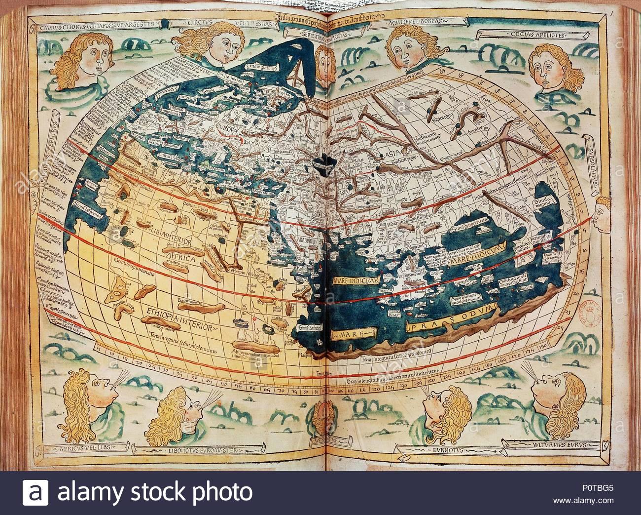 Ptolemy S World Map Around 140 Ce Copy Ulm Edition Of 1486