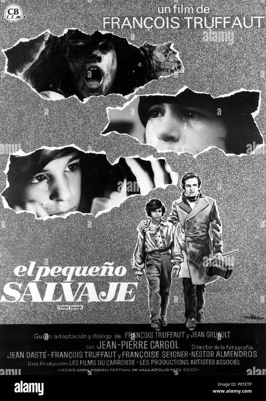 Original Film Title: L' ENFANT SAUVAGE.  English Title: WILD CHILD, THE.  Film Director: FRANCOIS TRUFFAUT.  Year: 1970. Credit: FILMS DU CAROSSE/ARTISTES ASSOCIES / Album - Stock Image