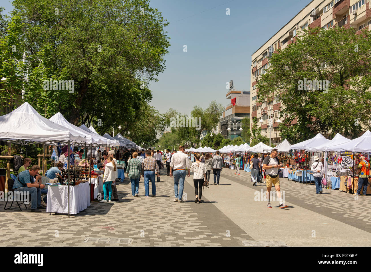 Street Market, Almaty, Kazakhstan - Stock Image
