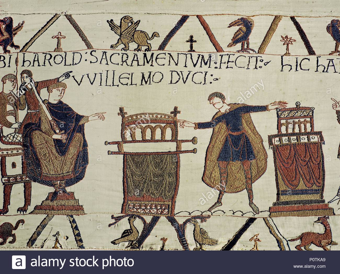 Harold Swears Fealty To William Duke Of Normandy Bayeux Tapestry