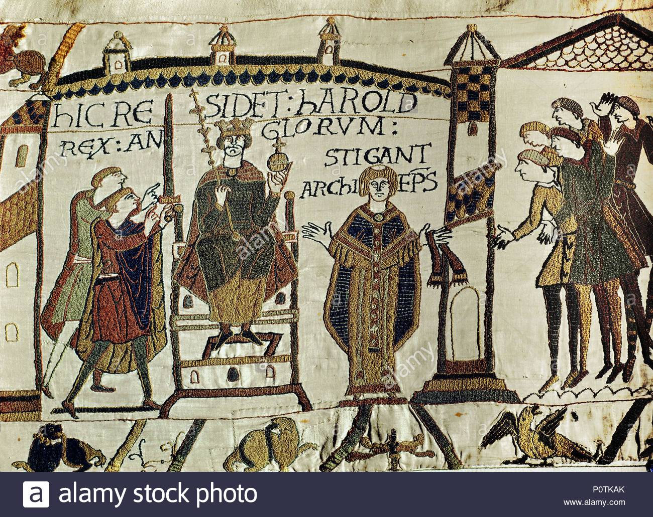 The Coronation Of Harold Ii He Receives Sword And Sceptre Bayeux