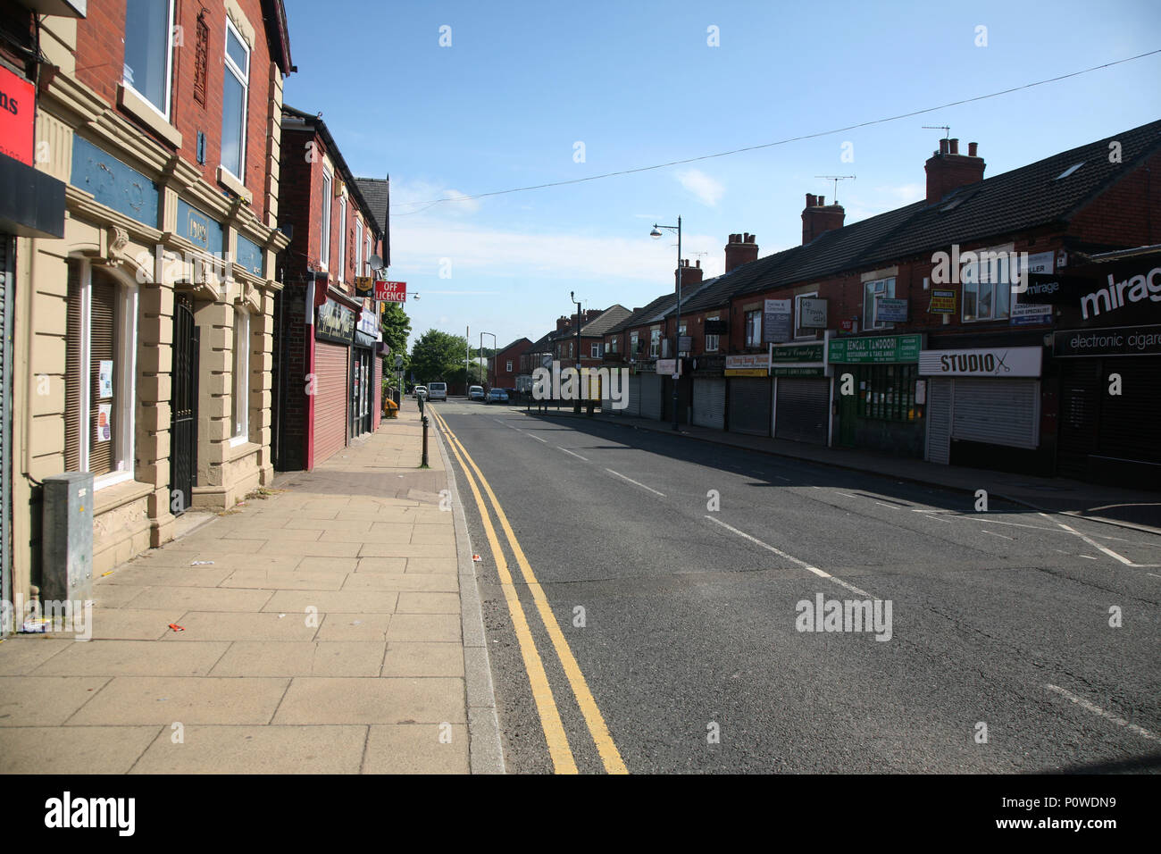 Laughton Rd, Dinnington, Sheffield S25  South Yorkshire old mining town - Stock Image