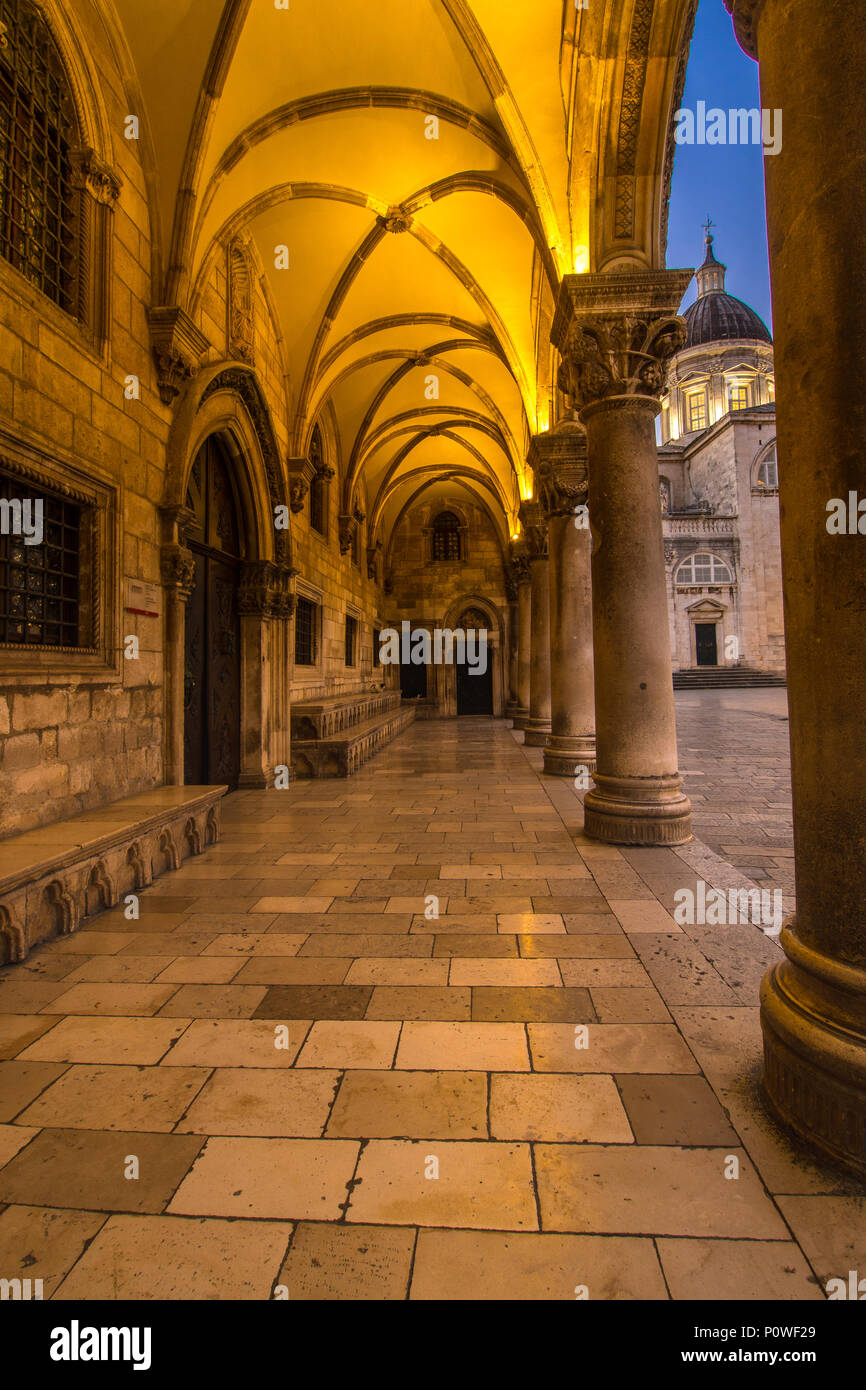 Rector's Palace & Dubrovnik Cathedral Stock Photo