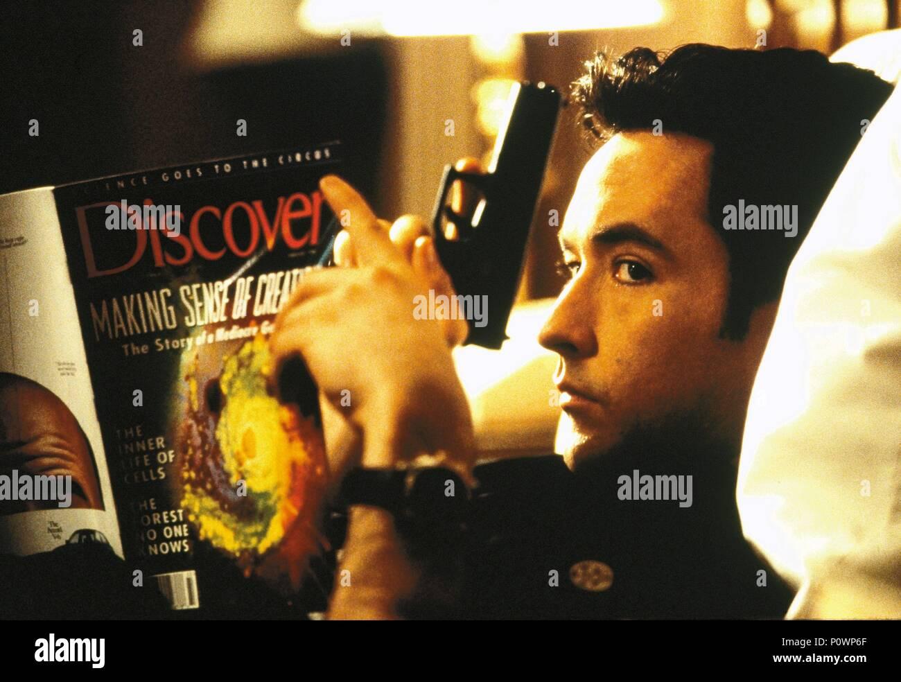 Original Film Title: GROSSE POINTE BLANK.  English Title: GROSSE POINTE BLANK.  Film Director: GEORGE ARMITAGE.  Year: 1997.  Stars: JOHN CUSACK. Credit: HOLLYWOOD PICTURES / GORDON, MELINDA SUE / Album - Stock Image