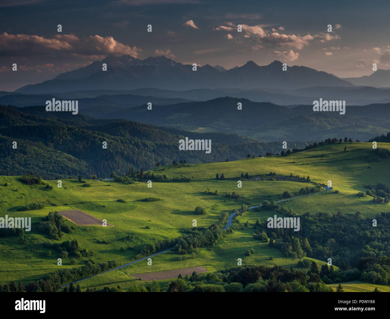 A fairytale view in Pieniny National Park - Stock Image