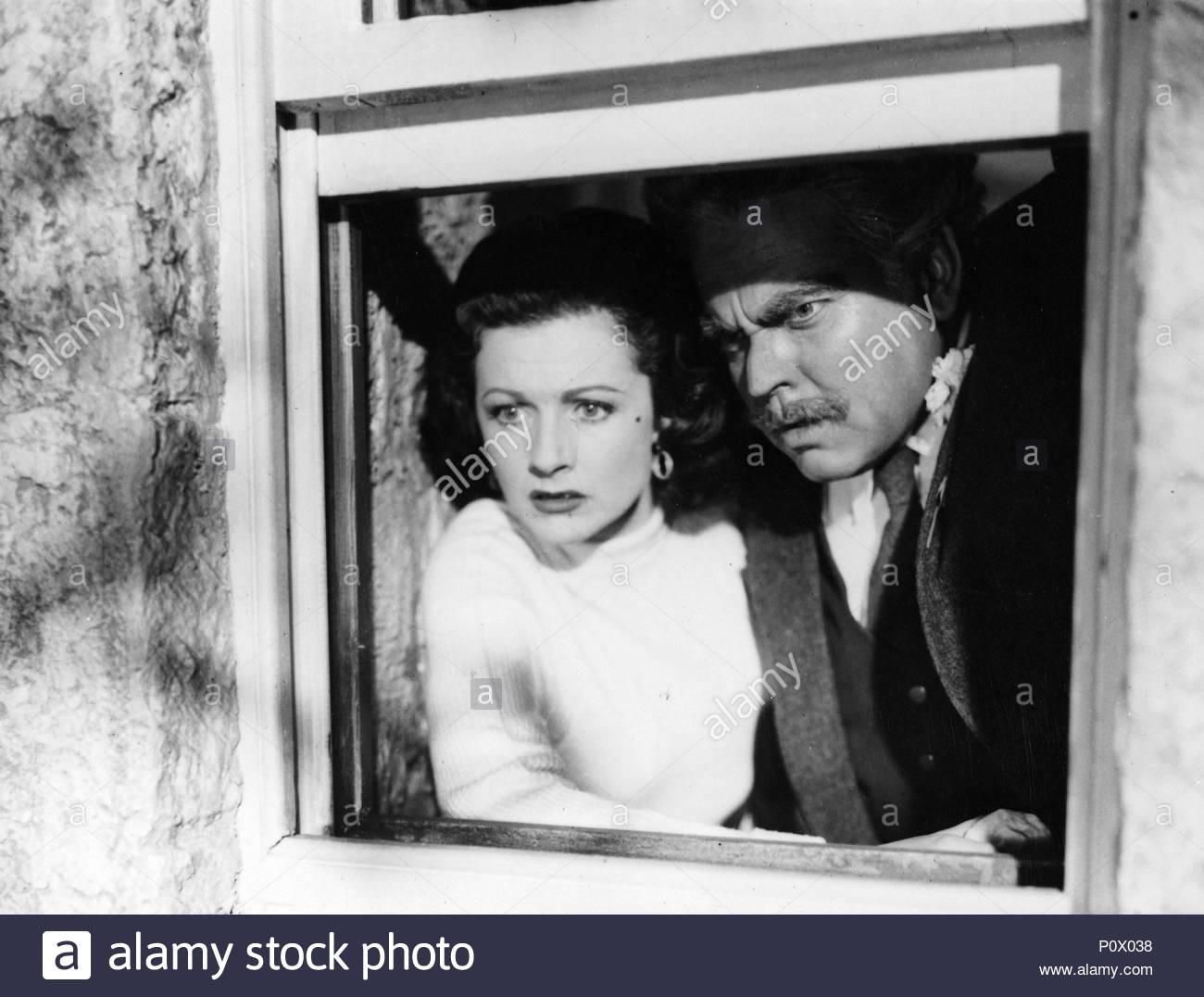 Original Film Title: TROUBLE IN THE GLEN.  English Title: TROUBLE IN THE GLEN.  Film Director: HERBERT WILCOX.  Year: 1954.  Stars: ORSON WELLES; MARGARET LOCKWOOD. Credit: REPUBLIC PICTURES / Album - Stock Image