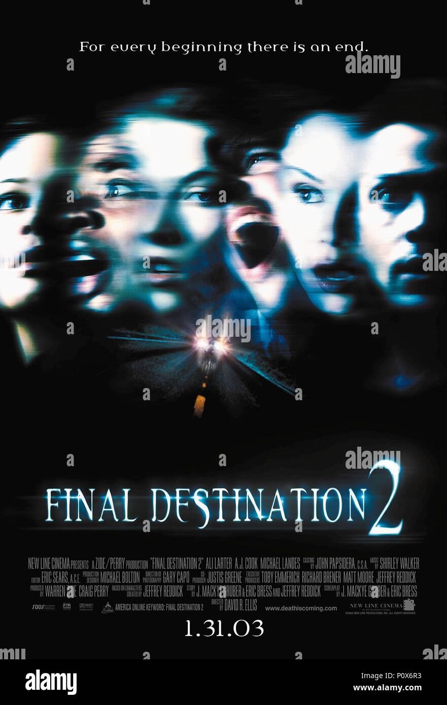 Original Film Title: FINAL DESTINATION 2.  English Title: FINAL DESTINATION 2.  Film Director: DAVID RICHARD ELLIS.  Year: 2003. Credit: NEW LINE CINEMA / Album - Stock Image