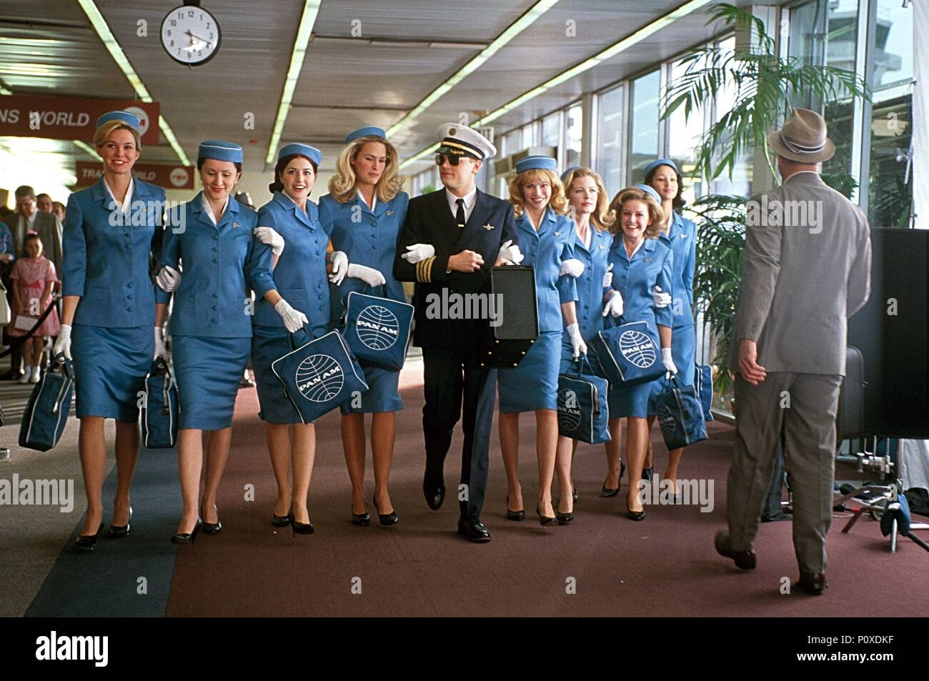 Original Film Title: CATCH ME IF YOU CAN.  English Title: CATCH ME IF YOU CAN.  Film Director: STEVEN SPIELBERG.  Year: 2002.  Stars: LEONARDO DICAPRIO. Credit: DREAMWORKS / COOPER, ANDREW / Album - Stock Image