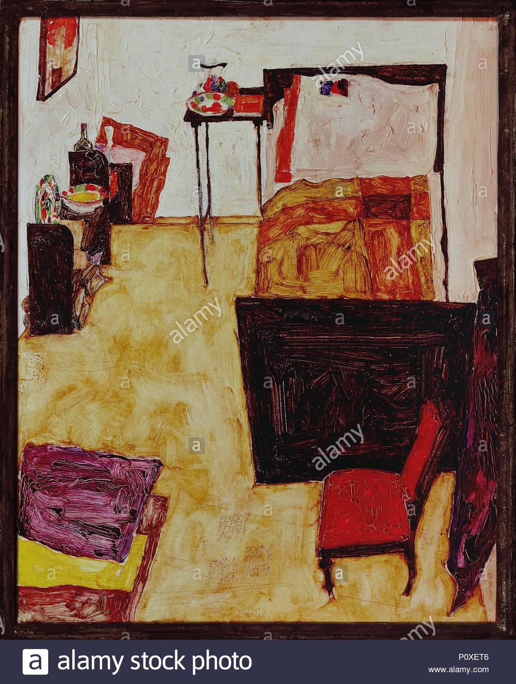 Das Zimmer des Kuenstlers in Neulengbach (The artist\'s room in ...
