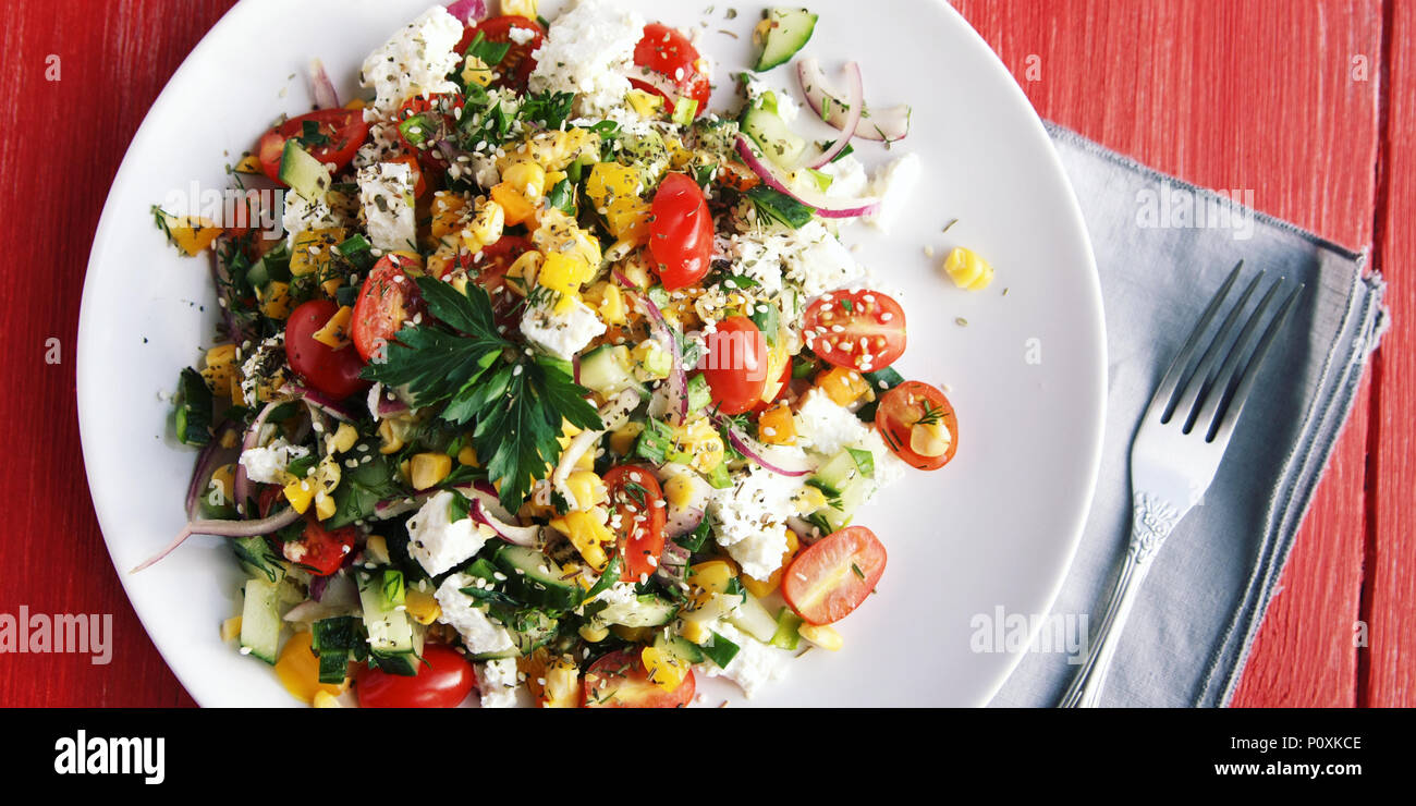 Wondrous Colorful Vegetable Mix Simple Low Calories Salad Cherry Home Interior And Landscaping Fragforummapetitesourisinfo