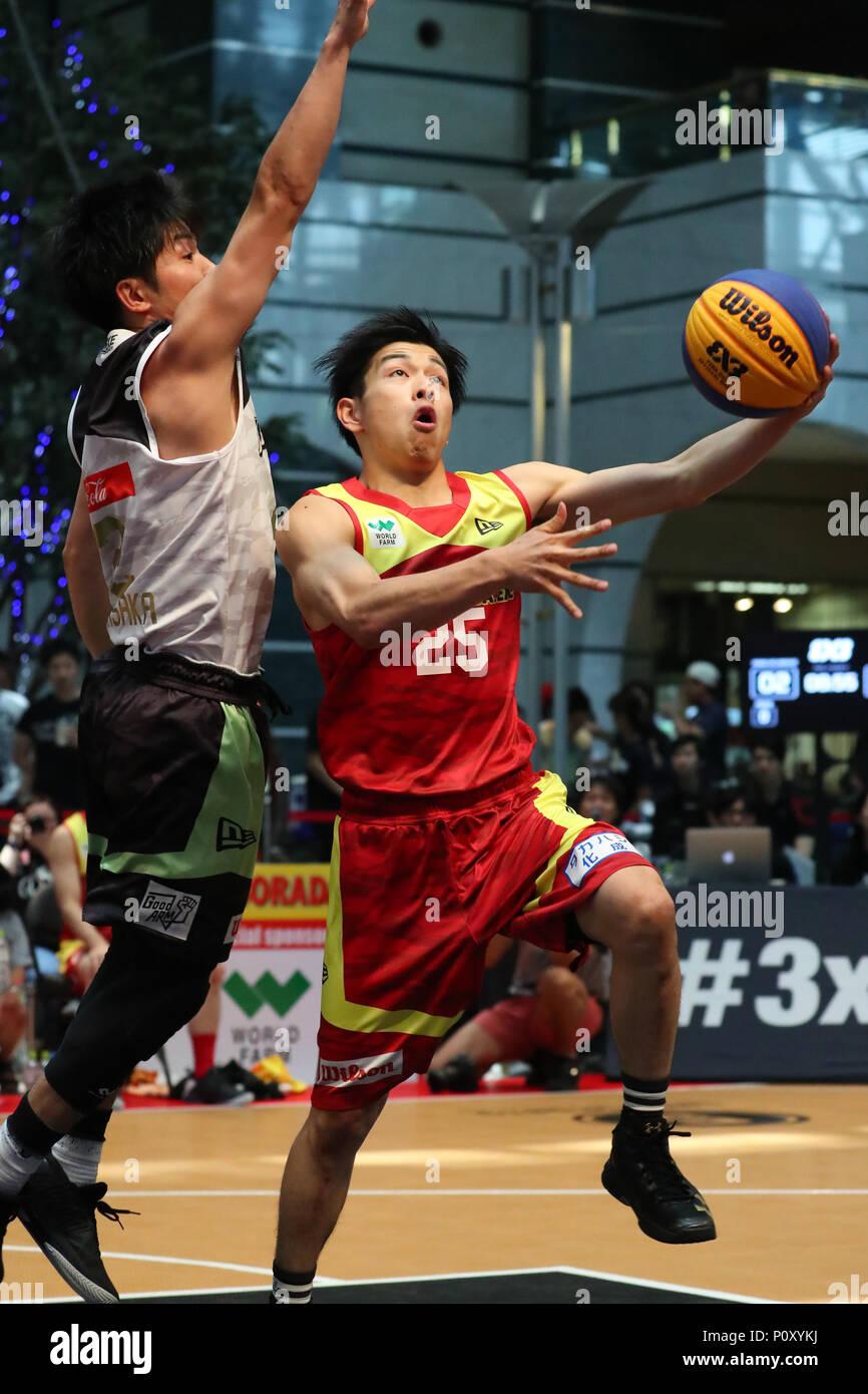 Omori Bellport, Tokyo, Japan. 9th June, 2018. Konosuke Tanaka (ALBORADA.EXE), JUNE 9, 2018 - Basketball : 3 .EXE PREMIER 2018 Season Northern japan Conference game at Omori Bellport, Tokyo, Japan. Credit: YUTAKA/AFLO SPORT/Alamy Live News - Stock Image