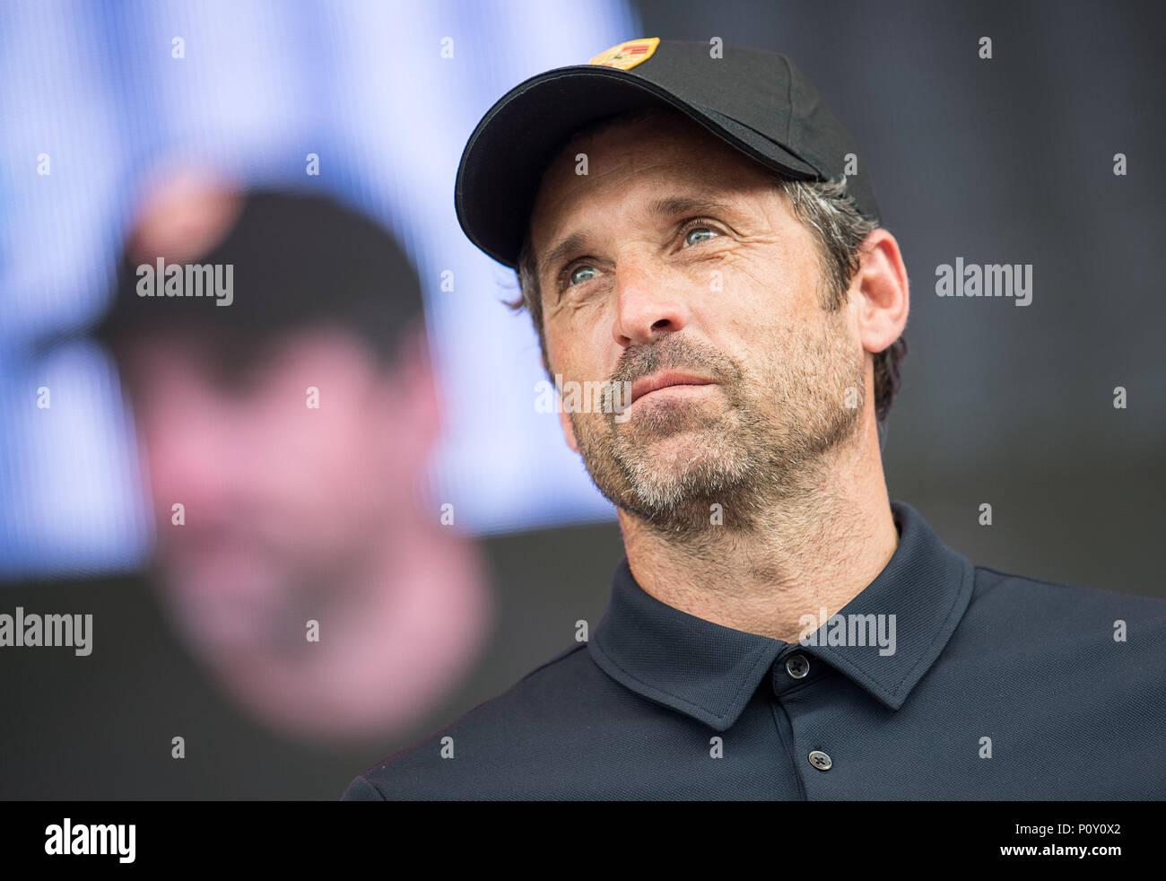 10 June 2018 Stuttgart Germany Us Actor Patrick Dempsey Visits The