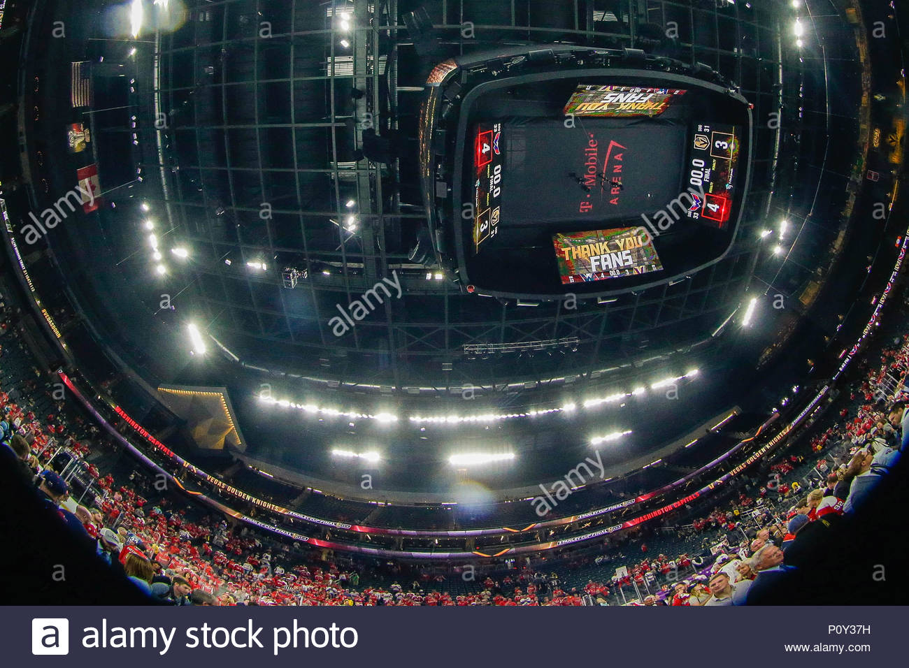 las vegas nv usa 7th june 2018 view of arena scoreboard with