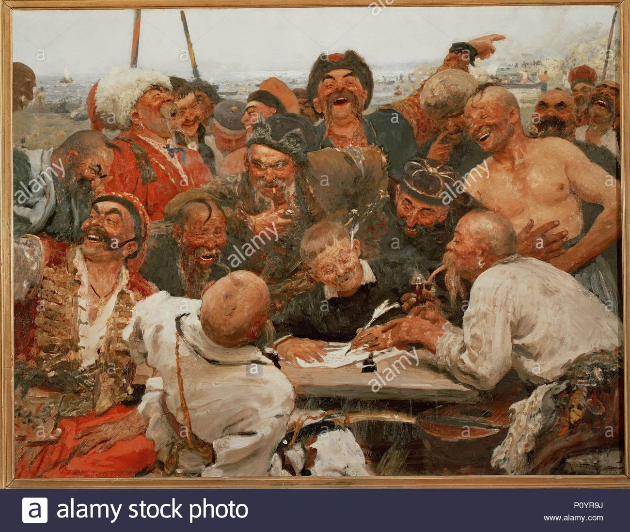 The zaporozhye cossacks write a mocking letter to the turkish sultan the zaporozhye cossacks write a mocking letter to the turkish sultan 1880 1881 oil sketch for the painting in the russian state museum expocarfo Images