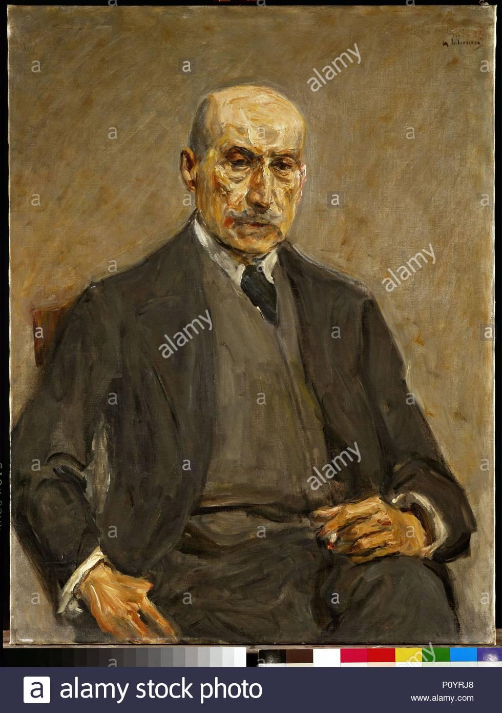 Self-portrait. Author: Max Liebermann (1847-1935). Location: Museum der Bildenden Kuenste, Leipzig, Germany. - Stock Image