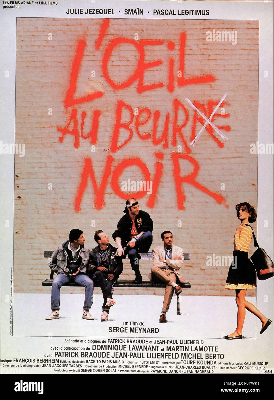 Original Film Title: OEIL AU BEUR.  English Title: OEIL AU BEUR.  Film Director: SERGE MEYNARD.  Year: 1987. Credit: LES FILMS ARIANE/ARTISTES ASSOCIES / Album - Stock Image