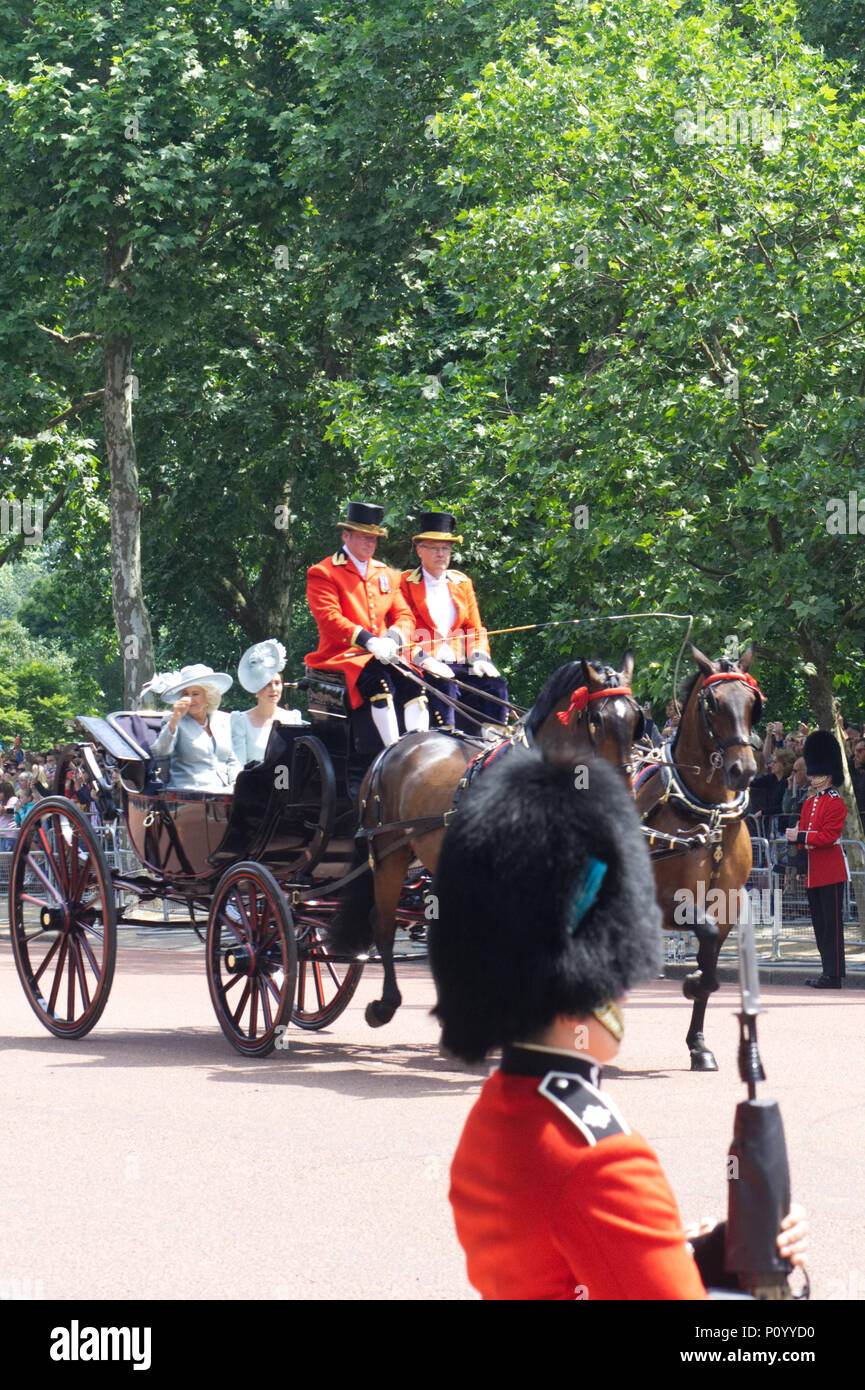 The Royal family attending Trooping the colour in London 2018 Stock Photo