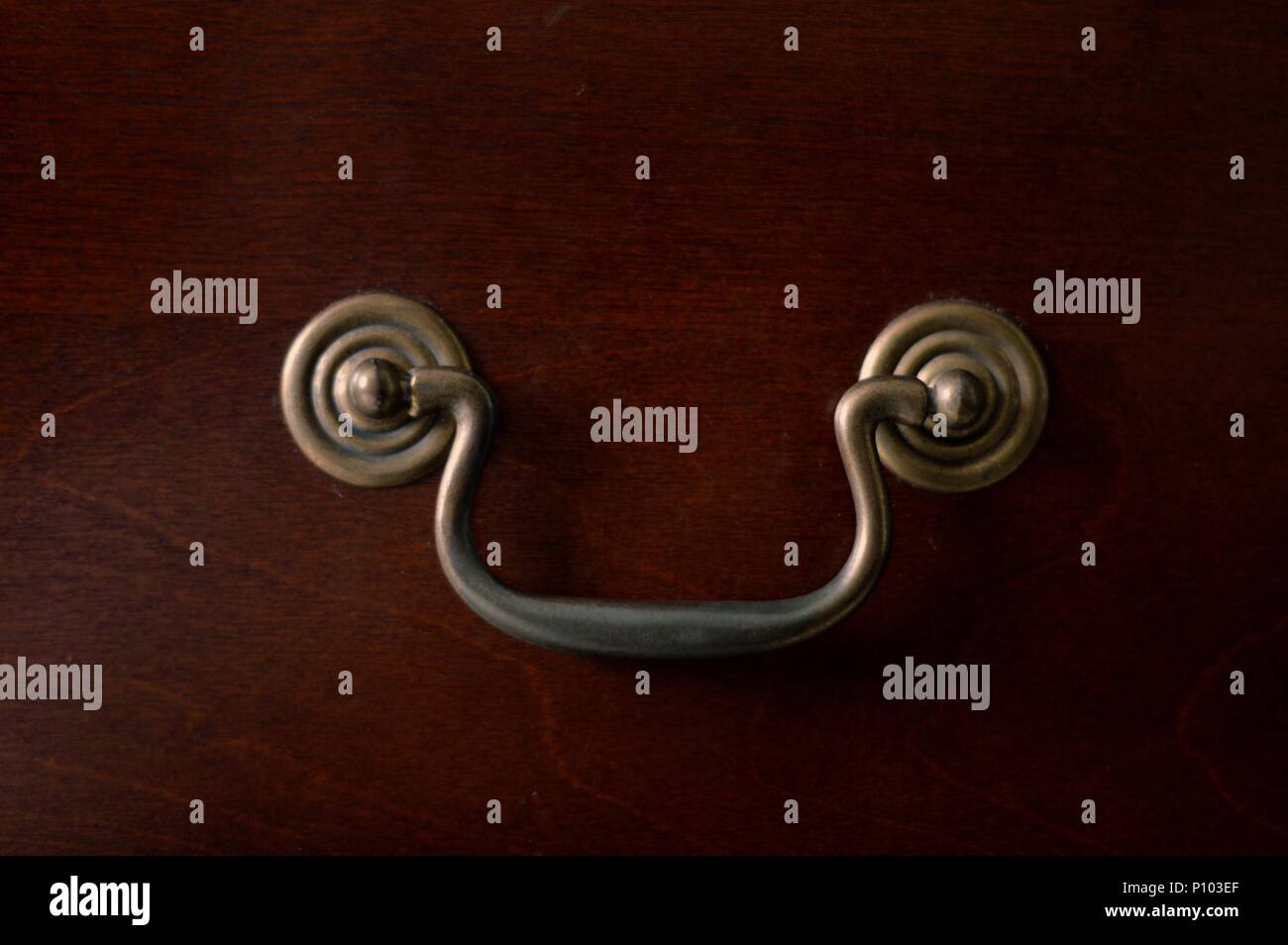 Antique furniture handle - Stock Image