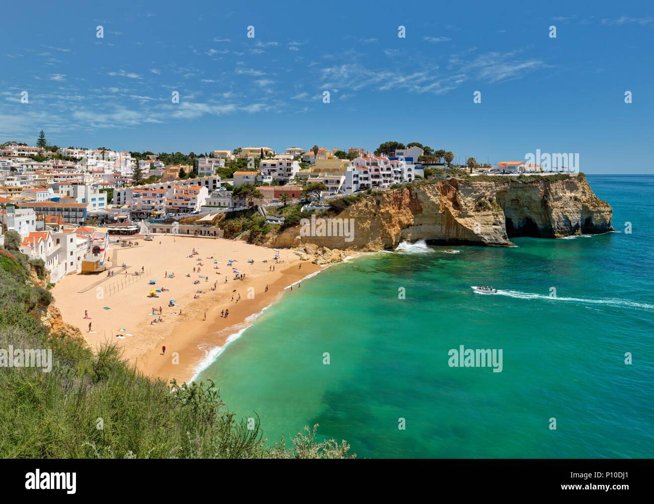 Praia do Carvoeiro in Spring Stock Photo