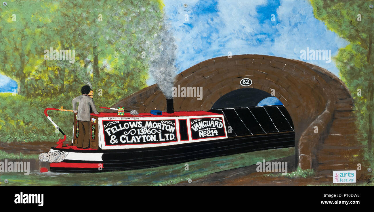 Ashby-de-la-Zouch, England, 6th, June, 2018.  The 'FMC Vanguard c1920' painting by Emma Johnson, part of the ArtaroundAshby Exhibition - Stock Image